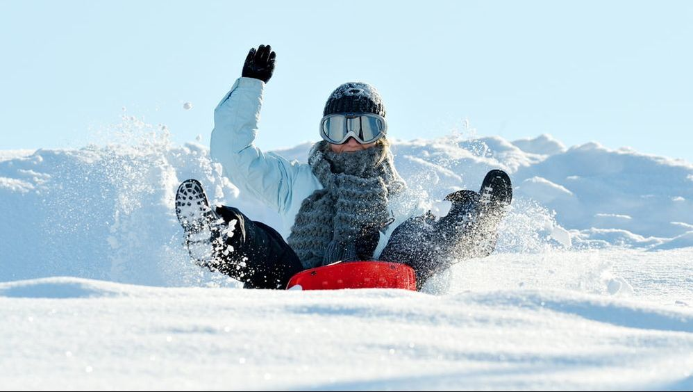 snow-sledding